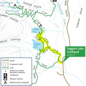 Taggart-Bradley Lakes Trails